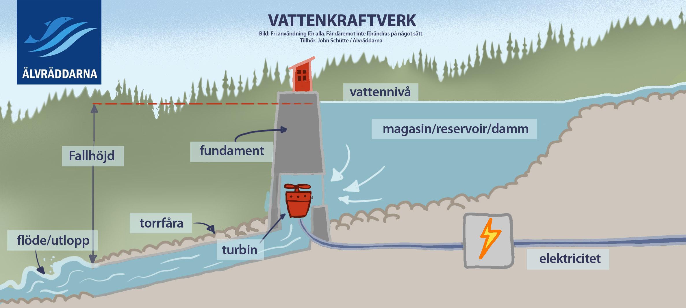 för och nackdelar med vattenkraft